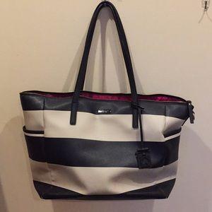 Kate Spade Black & White Striped Diaper Bag